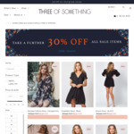 30 % off All Sale Dresses @ Three of Something