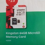 Kingston 64GB MicroSD Card $15 @ Australia Post