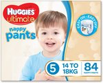 [Prime] Huggies Nappy Pants Ultimate Size 5 & 6 $31.49 Delivered @ Amazon AU