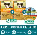 Advocate and Seresto Value Pack (4 Dose of Advocate + Seresto Collar) $39.99 Delivered @ Pet Circle