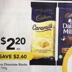 [QLD] Cadbury Caramilk 190g Block $2.20 @ Drakes