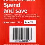 [WA] $20 off $150 Spend @ IKEA, Perth