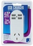 Jackson 4 Outlet USB Charger Power Outlet $12.40 @ Bunnings