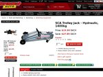 SCA 1400kg Trolley Jack at Supercheap Auto $19.99, 55% Off RRP