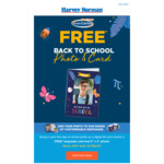 "Free Back to School Photo & Card (Free* Keepsake Card and 6"" X 4"" Photo) @ Harvey Norman (in Store)"