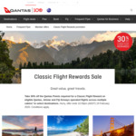 30% off Qantas Classic Reward Flights to New Zealand, Fiji & San Francisco