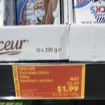Choceur Chocolate Milk Sticks 200g $1.99 at ALDI