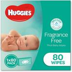Huggies Baby Wipes 80 Pack $2 (Min 3) + Delivery ($1.70 Prime S&S, $1.80 Non Prime S&S) @ Amazon AU