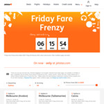 Friday Frenzy: Domestic Flights from $29 (Avalon - Adel), International Flights from $208 (Syd - Ho Chi Min) @ Jetstar