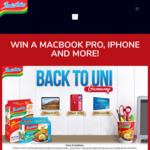 Win a MacBook Pro, iPhone 11 or 10x $100 Visa Prepaid Cards from Indomie