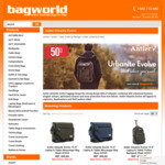 53% off Antler Urbanite Evolve Laptop Backpack with Coupon Code ($60.80 Shipped) @ Bagworld