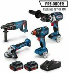 [Pre Order] Bosch Blue 18V Brushless 4 Piece 2x 6.0ah Combo Kit - $699 @ Total Tools