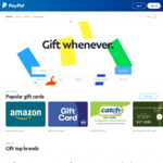 15% off Catch Gift Cards @ PayPal