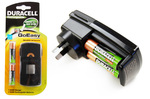 Duracell GoEasy NiMH Charger with 2 Rechargeable AA Batteries for $7.98