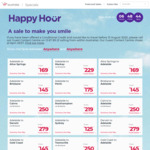 Virgin Australia Happy Hour: Domestic Sales with Focus on Adelaide (eg Syd <> ADL $125, Per <> ADL $175)