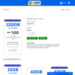 Catch Connect 365 Day Plan 120GB + Unlimited Talk & Text $120 - New Customers Only