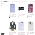60~74% off Mens: Euro Tailored Fit Shirt $19~$25, Chinos / Slim Trousers / Sweater $29, Slim Blazer Jackets $99 @ Van Heusen
