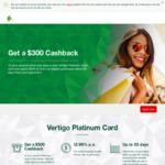 Get $300 Statement Credit Back on St George Bank Vertigo Platinum Card (Spend $900 in 90 Days, $99 Annual Fee) @ St George Bank