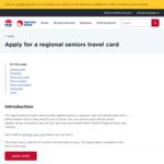 [NSW] Seniors Regional Travel Card $250 @ NSW Government
