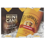 Bundaberg Ginger Beer 200ml Cans 6pk $3.45 (RRP $6.90) @ Coles