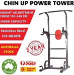 Power Tower Chin up Bar Push Pull up Knee Raise Gym Station Weight Bench $125 + Delivery (Free to Select Areas) @ PickPro