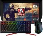 """AOC AGON AG273QG 27"""" Nano IPS 1ms 165Hz 2K Monitor + Bonus Razer KB & Mouse + $100 Steam Voucher - $599 Shipped @ PC Byte"""