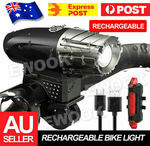 [eBay Plus] - Waterproof Rechargeable LED Bike Bicycle Light USB Cycle Front Back Headlight $7.90 Delivered @ ewook2014 eBay