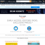 [Prime] Early Access to New Books + Choose 1 of 10 Kindle eBooks for Free (July 2021) @ Amazon AU