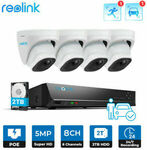 Reolink 8CH 5MP Security System Kit RLK8-520D4-A w/ Person/Vehicle Detection $476.84 ($465.62 eBay Plus) Shipped @ Reolink eBay