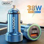 QOOVI 38W USB PD & QC 3.0 Car Charger US$3.85 (~A$5.25) Delivered @ QOOVI Accessories Store AliExpress