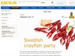 IKEA Tempe Crayfish Buffet $15 / $10 (Member) 29 Aug