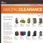 Macpac Clearance - 20% off Clearance Items - Eg. Genesis Aztec 85L $231.95, Genesis 85L $187.95