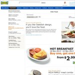 IKEA Buy One Get One Free Breakfast M-F this week, 18/11 - 22/11