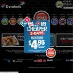 Domino's 3 Large Pizzas + Garlic Bread + 1.25l Coke from $19.95 Pickup