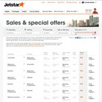 Fares from $29 @ Jetstar Ends 8 Sep