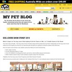 WIN 1 of 7 Double Passes to The Dog Lovers Show in Sydney 2014 - My Pet Warehouse