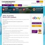 Cashrewards - 1.3% Cashback on eBay