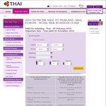 Thai Airways Business Class Sale - Brisbane to Bangkok 1 March - 8 March $3856.66