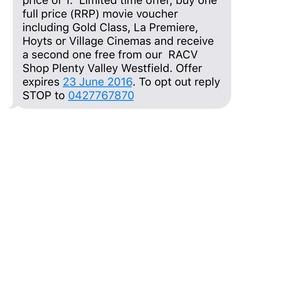 Bogof Village Cinemashoyts Movie Tickets At Racv Plenty Valley