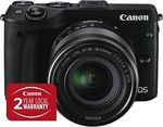Canon EOS M3 Single Lens Kit (18-55mm) for $581.60 C&C @ The Good Guys eBay ($381.60 after $200 Cashback via Redemption)