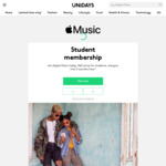 [Students] 1/2 Price Apple Music Membership - $5.99/Month + First 3 Months Free @ Apple via UNiDAYS