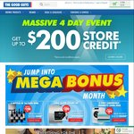 Get $20/$30/$50/$100/$200 Store Credit with $100/$300/$500/$700/$900 Spend @ The Good Guys