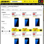 Samsung Galaxy S7 Edge 32GB $999, Samsung Galaxy S7 32GB $899 @ JB Hi Fi