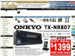 Onkyo TX-NR807 Amplifier with FREE iPod Dock - $1399 - Suitable for 3D