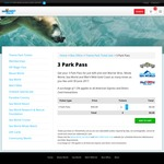 Unlimited Theme Park Entry to Movie World, Sea World and Wet n Wild Expires 30th June 2017 $49