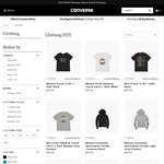 20% off All Clothing @ Converse