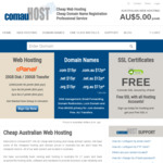90% off cPanel Web Hosting = $0.50 per month @ comauHOST