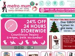 MetroMum 24% Off for 24hr from 2:40pm 24/11/2010