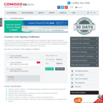 Comodo Code Signing Certificate for $101.75/ Year @ Comodo SSL Store