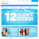 12% off Site Wide @ Amcal